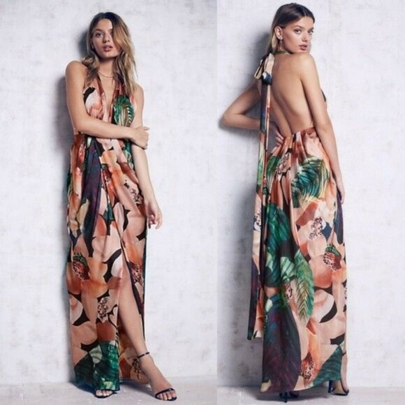 Free People Dresses & Skirts - Bariano Womens Miami Maxi Dress Free People 4 Flor